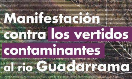 Contra los vertidos al río Guadarrama