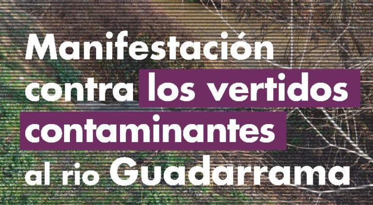Comunicado contra los vertidos al río Guadarrama