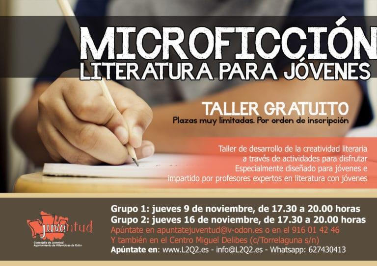 Talleres de Microficción gratuitos para jóvenes