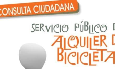 Consulta sobre posible implantación servicio alquiler bicicletas