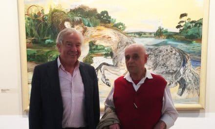 Joaquín Navarro visitó la exposición de Carlos Franco