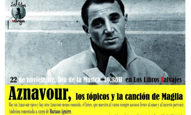 Aznavour en «Los libros salvajes»