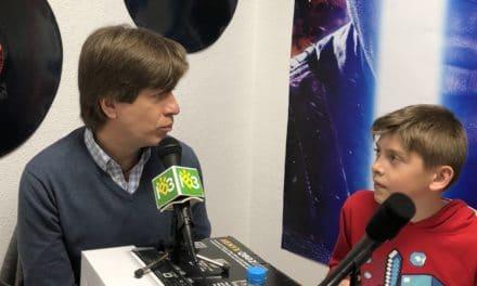 Mario Prisuelos entrevistado por los alumnos del Laura García Noblejas