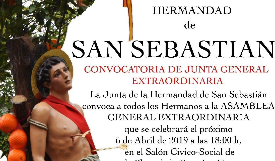 Junta extraordinaria de la Hermandad de San Sebastián