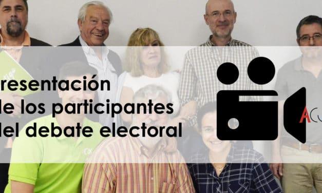 Presentación de los participantes del debate electoral 2019