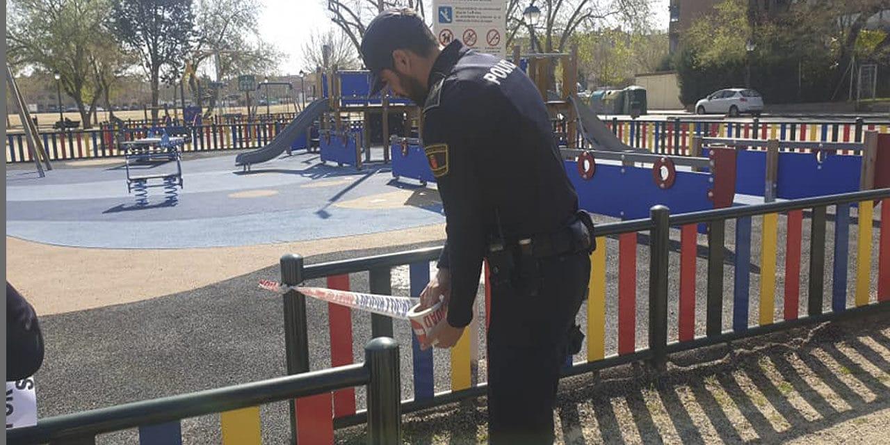 cierre de parques, zonas infantiles…