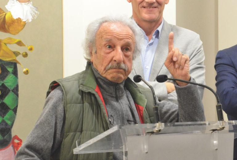 Manuel Sánchez Algora inaugura la reapertura de las exposiciones en el Coliseo