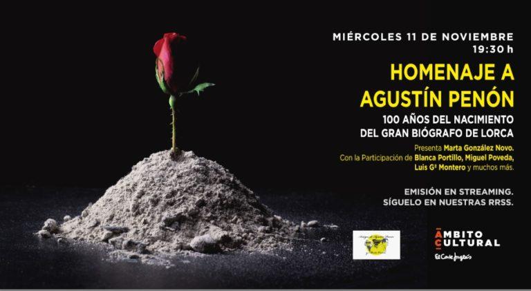 Hoy se cumplen 100 años del nacimiento de Agustín Penón, el gran biógrafo de Federico García Lorca