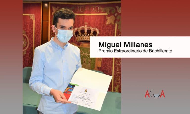 Nuestro joven vecino Miguel Millanes obtiene el Premio Extraordinario de Bachillerato
