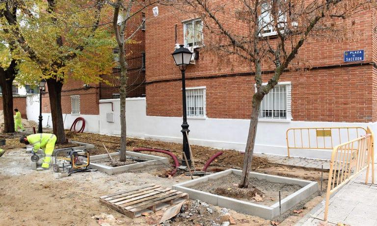Comienzan las obras de remodelación en la plaza de Sacedón