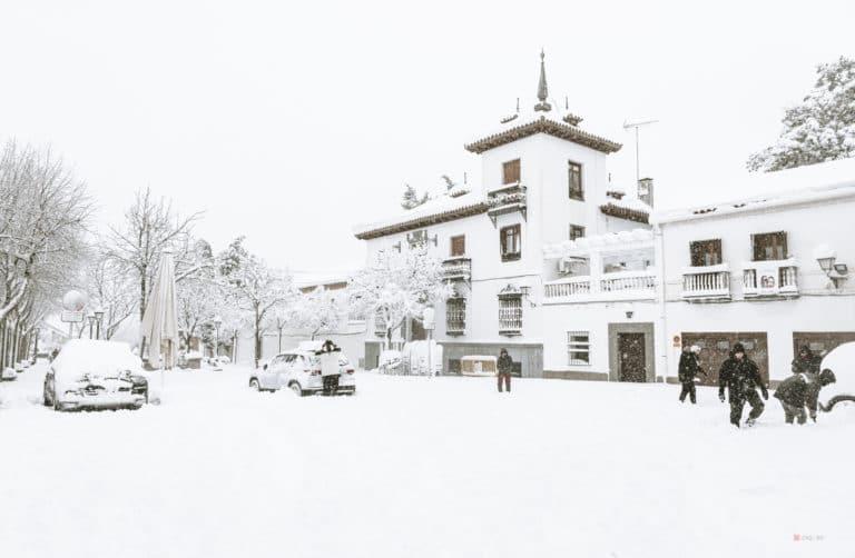 Histórica nevada en Villaviciosa