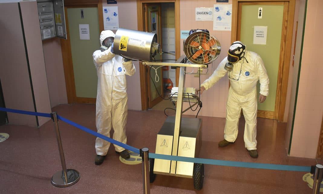 Desinfección centros municipales Villaviciosa