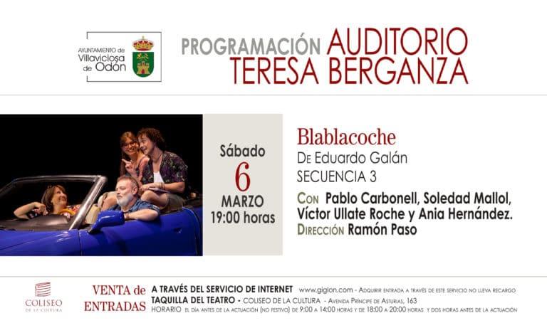 La obra teatral «Blablacoche», este sábado en el Coliseo