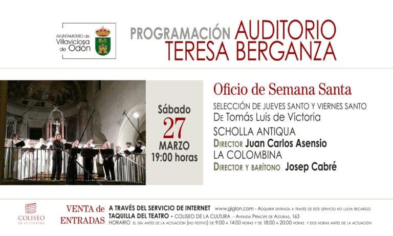 Concierto de Semana Santa, este sábado en el Coliseo