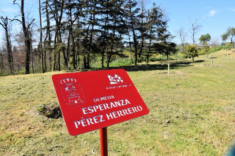 Homenaje a Esperanza Pérez, impulsora de la plantación de olmos resistentes a la grafiosis