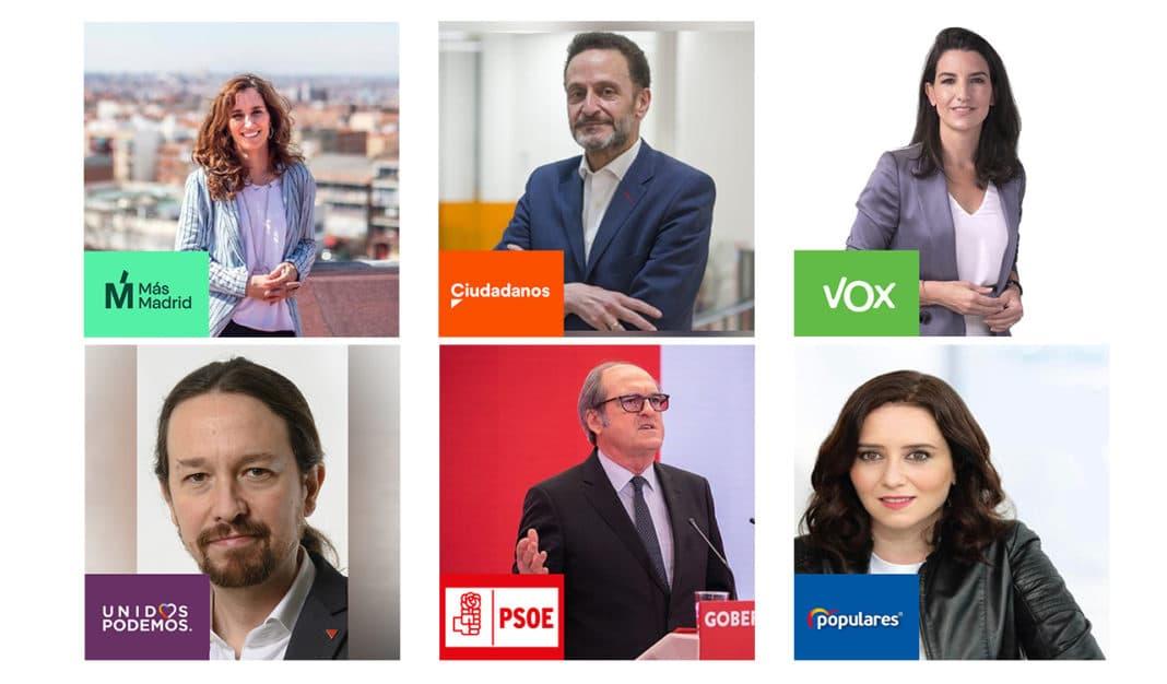 Candidatos elecciones 4 de mayo 2021