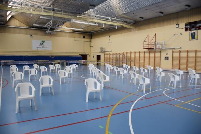 Polideportivo preparado para test de antígenos Villaviciosa