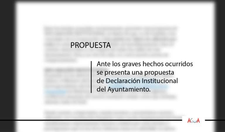 Propuesta de Declaración Institucional ante los graves hechos que afean la campaña electoral en Madrid