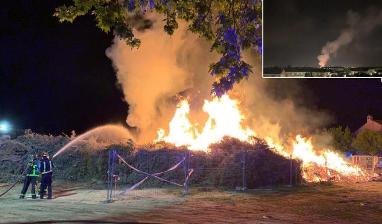 Incendio anoche en El Vaillo