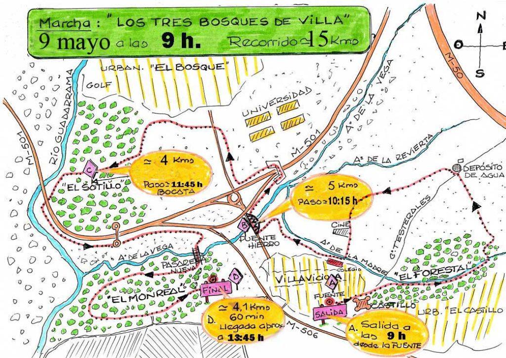Marcha por los tres bosques de Villaviciosa