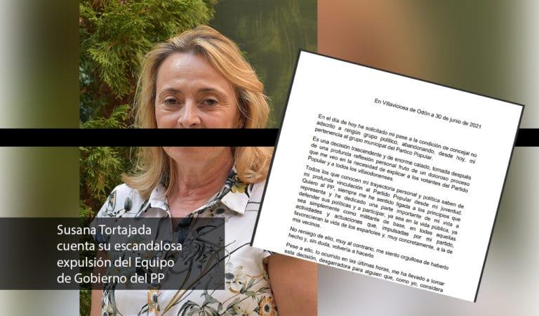 Carta de Susana Tortajada sobre su expulsión del PP