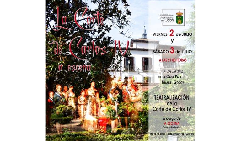 Los jardines del Palacio Manuel Godoy acogen una teatralización de la Corte de Carlos IV
