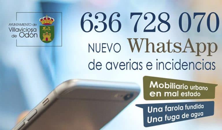 Se habilita un número de WhatsApp para atender las averías en Villaviciosa