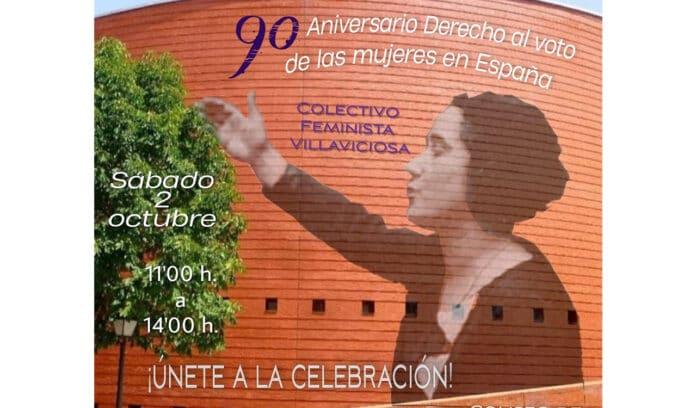 conmemoración aniversario voto femenino Villaviciosa