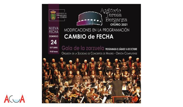 La Gala de la Zarzuela se traslada al domingo 24
